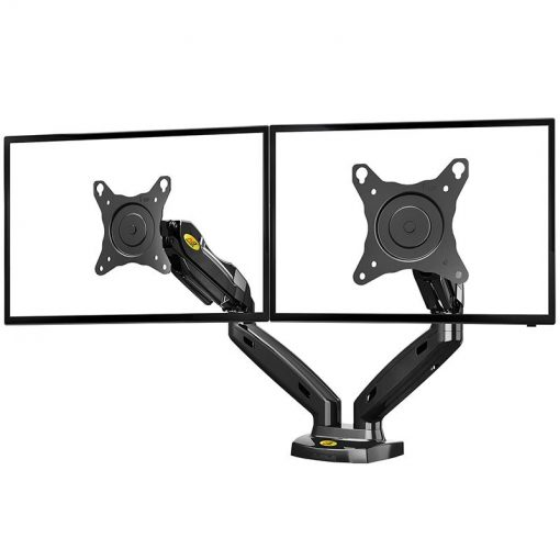 NB F160 gas strut dual screen monitor mount