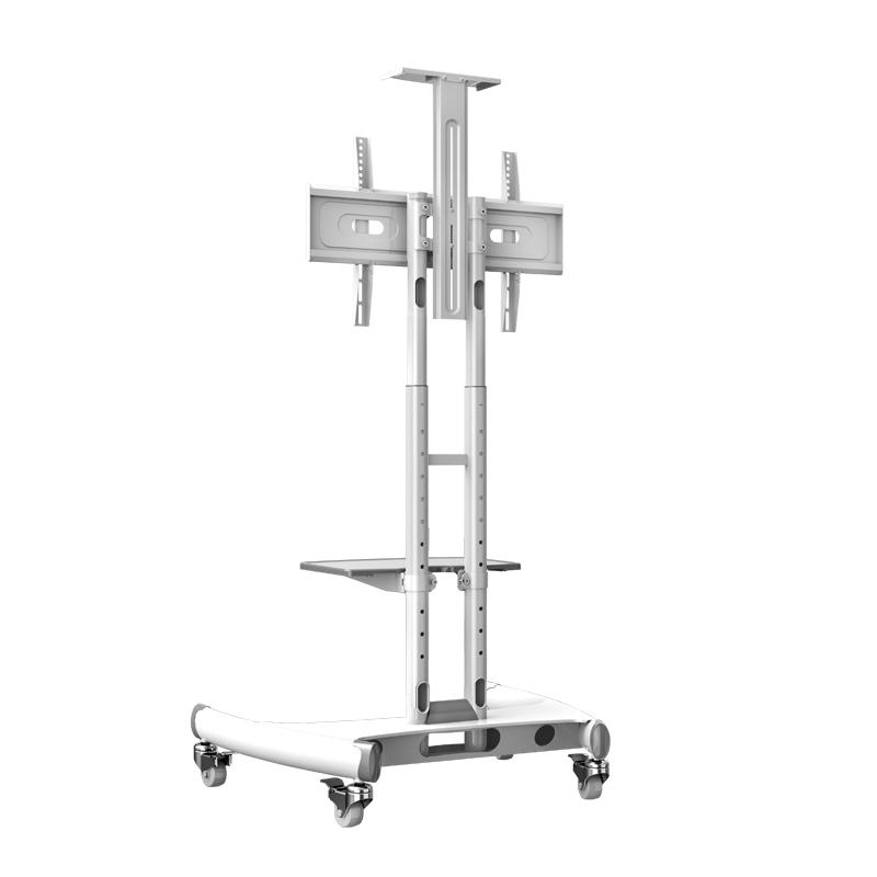 AVA1500 blanc - Pied à roulettes réglable pour TV LCD / LED / plasma