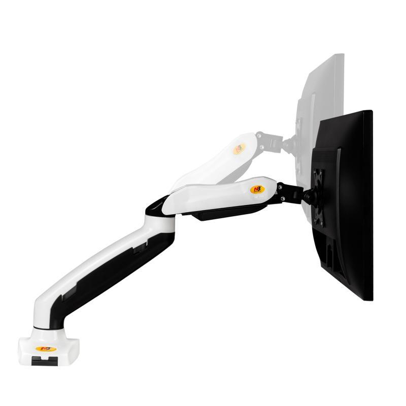 """F80 blanc - Support de bureau avec ressort à gaz pour écrans LCD 17""""- 27"""""""