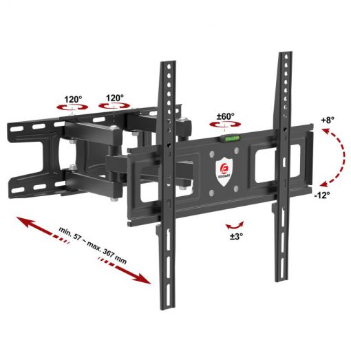 Redox-K35 support mural TV orientable robuste universel spec