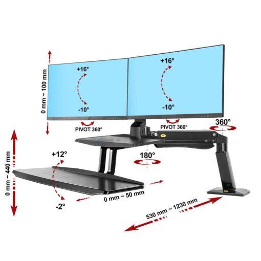 FC55 ergosolid support ecran pro assis debout