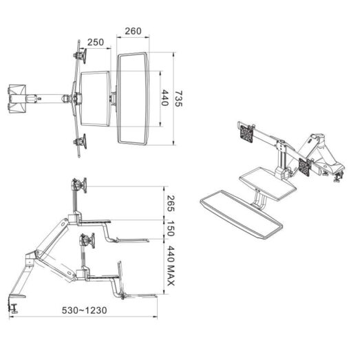 FC55-2A-B support